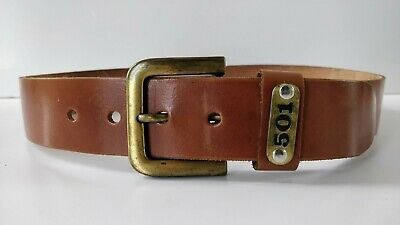 Genuine Leather Belt. Vintage 70s . Brown