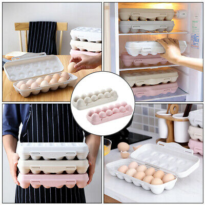 12-Grid Egg Storage Case Holder Box Containers Tray For Freezer & Fridge Snap-in