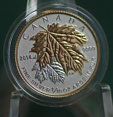 2014 CANADA $2 Silver Maple Leaf 1/10 oz Reverse proof from Fractional set