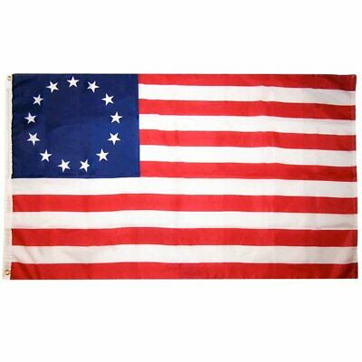 """Betsy Ross Flag 3'x5' 36""""x60"""" Stars & Stripes American Colonial Patriotic Banner"""