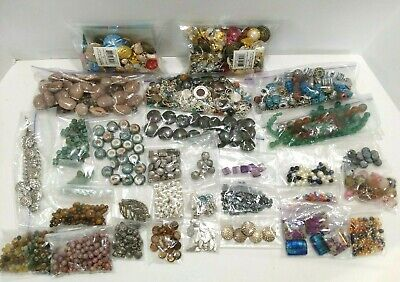 Large lot Of Beads Crafting & Jewelry Making Supplies 2 lbs 13 oz