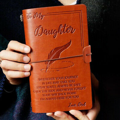 To My Daughter Where Ever Love Mom/Dad Leather Journal Notebook Diary Gifts