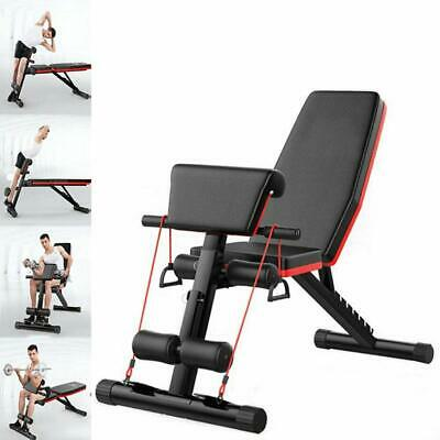 Fnova Adjustable Weight Bench Fitness - Foldable Incline Decline for Home Train