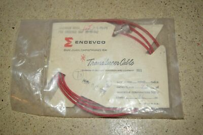 """ENDEVCO 3090B- 36"""" - 95pF 500˚F ACCELEROMETER CABLE- NEW (#45)"""