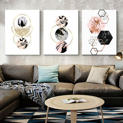 Geometric Nordic Modern Canvas Poster Wall Artist Home Printing Oil Painting 1