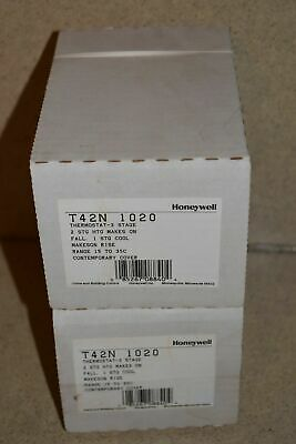 ^^ Honeywell T42N 1020 Thermostat 3 Stage New - Lot Of 2 (D2)