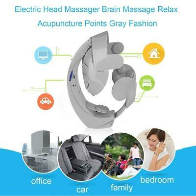 Gray Electric Head Massager Scalp Massage Relax Elastic Panel Acupuncture EP
