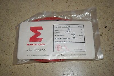 """ENDEVCO 3090C- 36"""" - 101pF 500˚F ACCELEROMETER CABLE- NEW (#33)"""