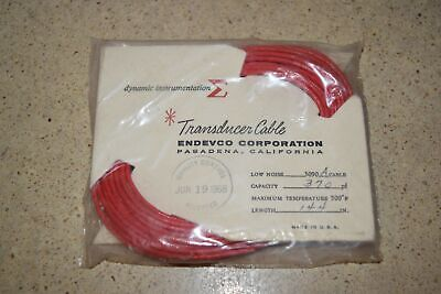 """ENDEVCO 3090A- 144"""" - 370pF 500˚F ACCELEROMETER CABLE- NEW (#14)"""