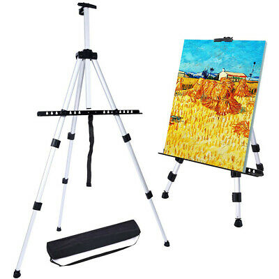 Aluminum Field Easel with Bag for Adjustable Height Table Top Floor Art Supplies