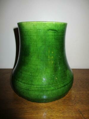 Gorgeous Vintage /Antique Early Australian Pottery Green Glaze Vase