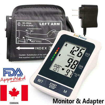 Upper Arm Blood Pressure Monitor BP Cuff Home Test Health & Power Adapter Canada