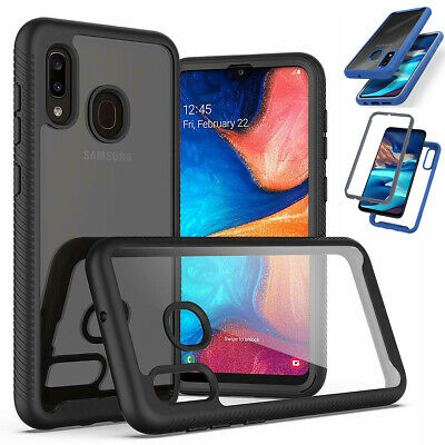 Fr Samsung Galaxy A20 A30 A50 A10E Clear Case Rugged Heavy Duty Shockproof Cover
