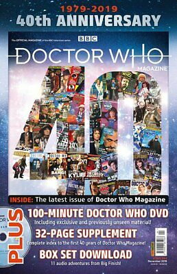 Doctor Who Magazine December 2019 40th Anniversary Issue DVD + BOOKLET + BOX SET