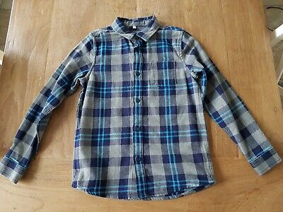 M&S Marks & Spencer Boys Check Shirt Age 9-10 Years