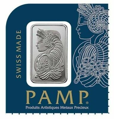 1 gram Platinum Bar PAMP Suisse Lady Fortuna (In Assay from Multigram+25)