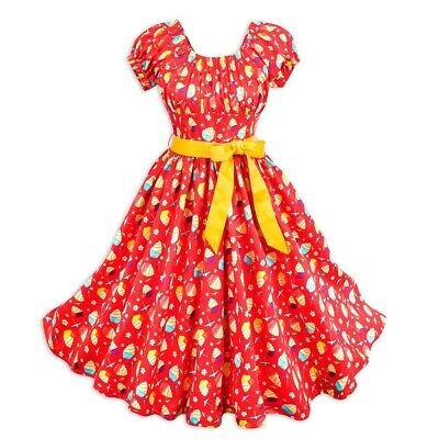 Disney Parks Dole Whip Dress Cherry Tree Lane Pineapple (Medium) - NEW WITH TAGS