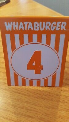 Whataburger Number 4 Table Tent
