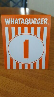 Whataburger Table Tent Number 1