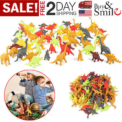 72 Realistic Dinosaur Toys Plastic Figures Assorted Pack Jurassic Park Lot Kids