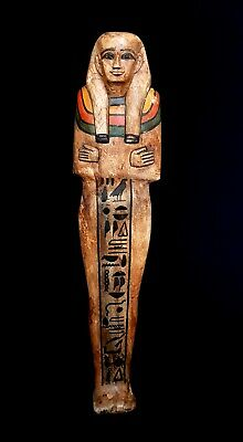 Hieroglyphic Shawabti Pharaonic 1850 BC Large Sculpture Egypt Antiquities Shabti