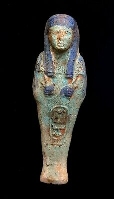 Shabti Egyptian Ushabti Ancient Bc Faience Statue Rare Antique Shawabti Figurine