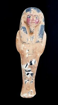 Fantastic Ushabti Sculpture Egyptian Antique Shawabti W/T Hieroglyphics Alphabet