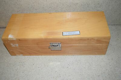 "HUGHES AIRCRAFT PRIMARY STANDARDS H446655 WOODEN BOX 12.5""x4.75""x3.5"""