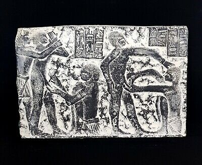 Stunning Circumcision Scene Egyptian Antiques Relief Plaque Wall Ancient Craft