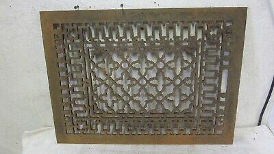 "Antique Large Victorian Floor Cold Air 14 "" x 20 "" Cast Iron Register Heat Grate"