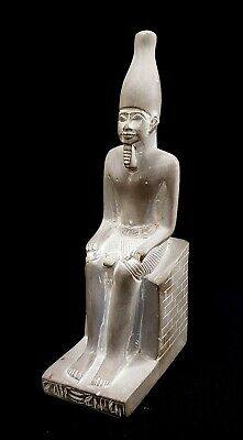 King Menes Statue Ancient Egyptian Antique Mena God Faience Hieroglyphic Pharaoh