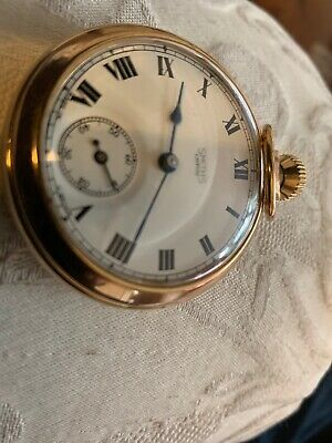 VINTAGE SMITHS EMPIRE GOLD PLATED POCKET WATCH With Second Dial