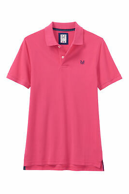 New Crew Clothing Mens Melbury Polo Shirt in Berry