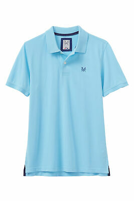 New Crew Clothing Mens Melbury Polo Shirt in Turquoise