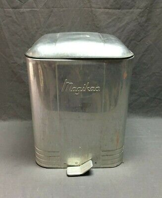 Vintage  Flip Top Trash Can Waste Basket Magikan Airstream Mid Century   296-19J