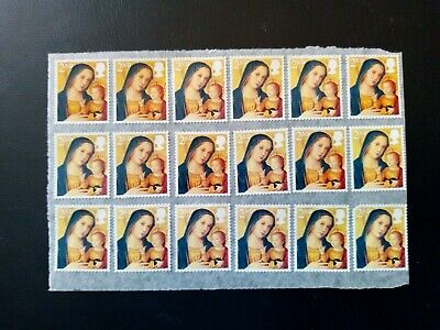 36 x 2nd Class Unfranked GB Christmas Stamps on Easy Peel £9.99 Free Post