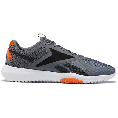 Reebok Men's Flexagon Force 2.0 Cross-Training Shoes, Wide Cold Grey 6/Blk/Oran