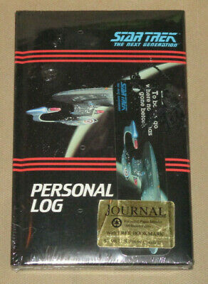 Vintage Star Trek The Next Generation Personal Log 1992 Lined Journal/Diary NEW