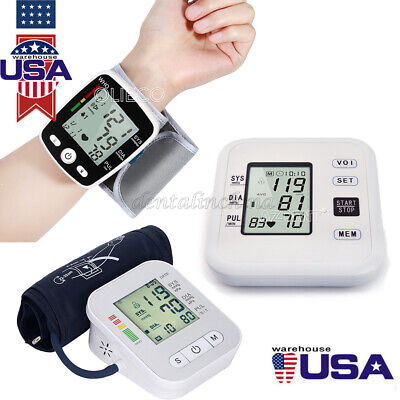 Automatic Digital LCD Arm / Wrist Blood Pressure Monitor Heart Beat Machine Test