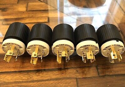 5 Hubbell NEMA L7-15A 277VAC TURN PULL Twist Locking Plug Outlet Wire Connector