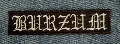 1BURZUM Embroidered Patch IRON/SEW ON Black Metal USA Seller Fast Delivery