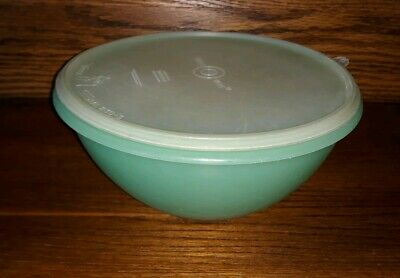 Vintage Tupperware Green Wonderlier Mixing Bowl #237 w/ Sheer Lid #230