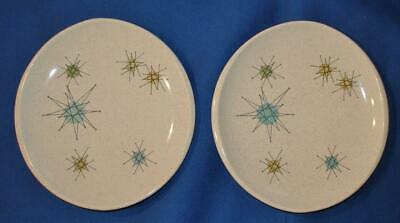 Set of 2 Franciscan STARBURST Bread Plates ATOMIC Mid-Century Modern