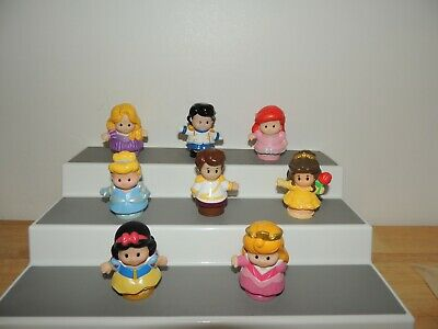 Fisher Price Little People Disney Prince Princess Songs Palace Castle LOT