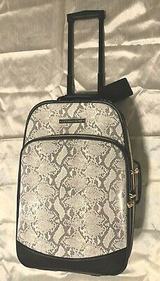Victoria Secret Travel Luggage Rolling Carry On Python Snake PVC NWT