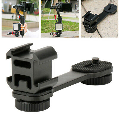 Triple Hot Shoe Mount Holders For DJI OSMO Mobile 2 Zhiyun Smooth 4 Accessories