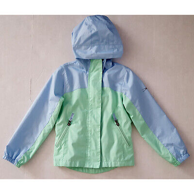 Girls Crane Rain Jacket, Blue Green Size S (5)