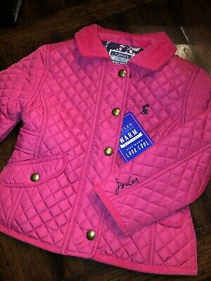 Joules 2 YR  Newdale Pink Quilted Jacket Girls Beautiful New Coat