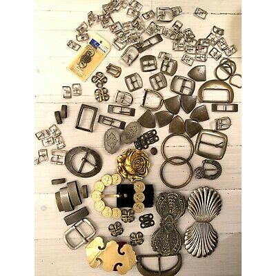 Mixed Vintage Belt and Buckle collection over 100 pieces