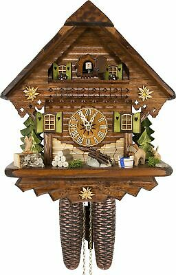 German Cuckoo Clock - Summer Meadow Chalet - BY CUCKOO-PALACE with 8-day-move...